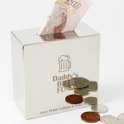 Personalised Money Box Beer
