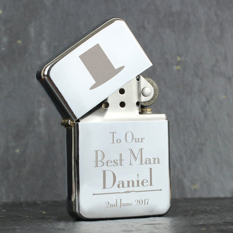 Personalised Decorative Wedding Best Man Lighter Gift