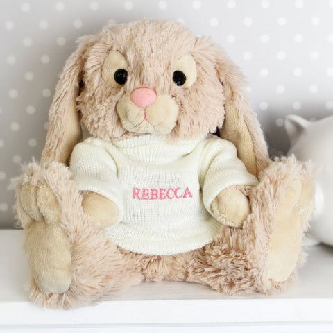 Personalised Bunny Rabbit Pink Name