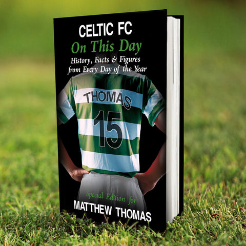 Personalised Celtic FC On This Day Book