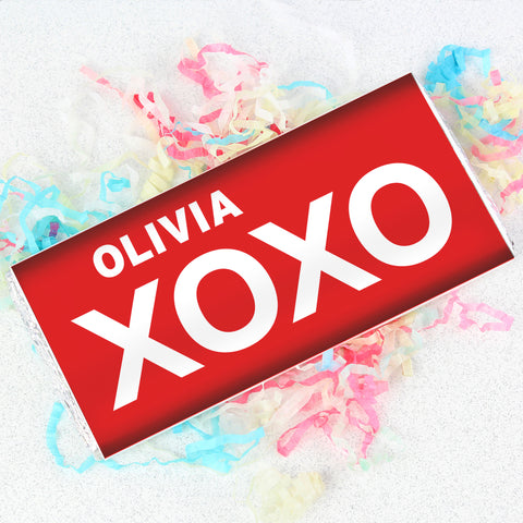Personalised XOXO Slogan Chocolate Gift
