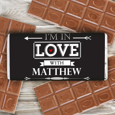 Personalised In Love With Chocolate Bar Gift