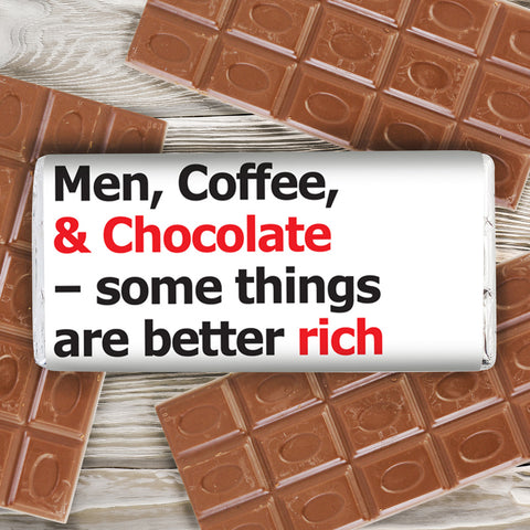 Personalised Better Rich Slogan Chocolate Bar