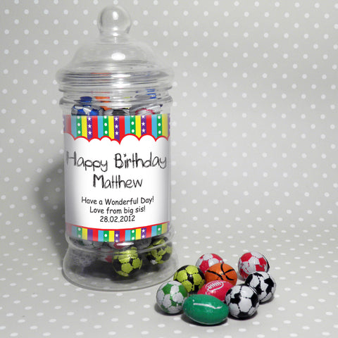 Personalised Stars and Stripes Chocolate Jar Gift