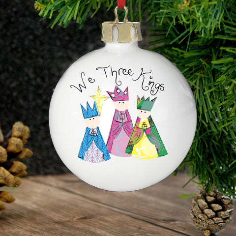 Personalised Nativity 3 Kings Bauble Gift