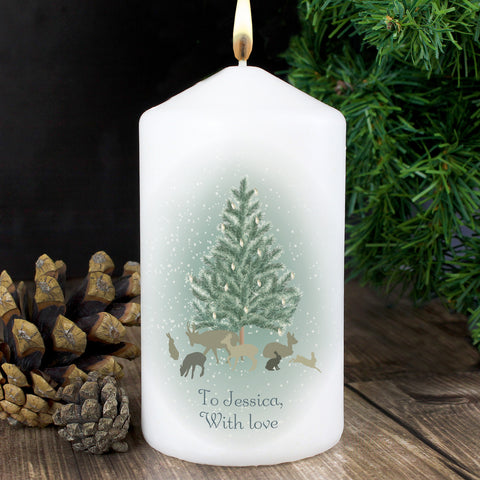 Personalised Winter's Night Christmas Candle