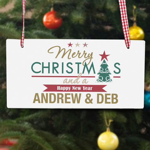 Personalised Christmas Signs UK