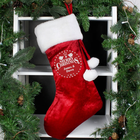 Personalised Merry Christmas Stocking