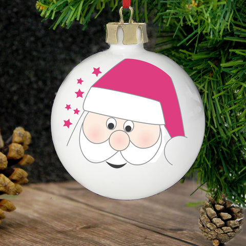 Personalised Santa Tree Decoration Gift