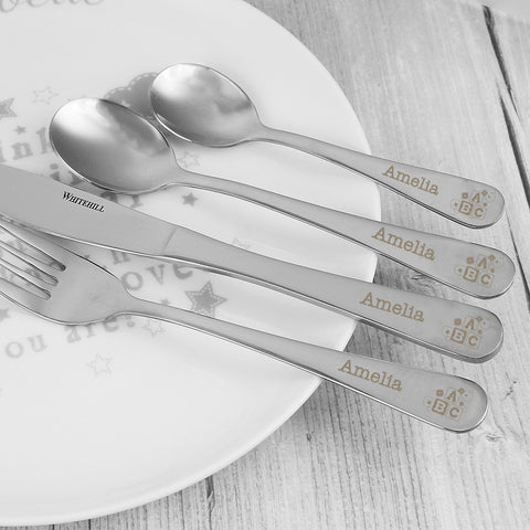 Personalised 4 Piece Prince ABC Cutlery Set Gift