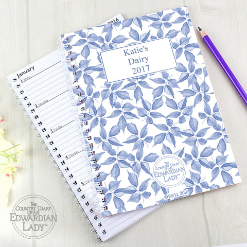 Personalised Country Diary Blue Blossom Diary