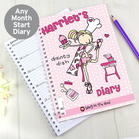 Personalised Bang on the Door Dainty Dish Diary