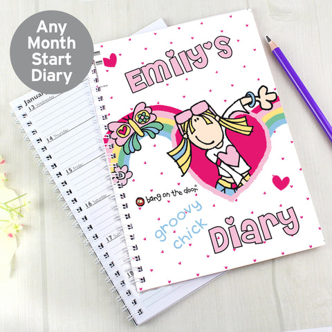Personalised Bang on the Door Groovy Chic Diary