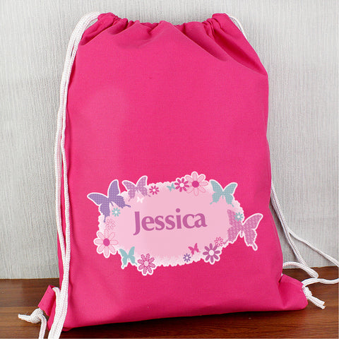 Personalised Butterfly Swim Bag Present