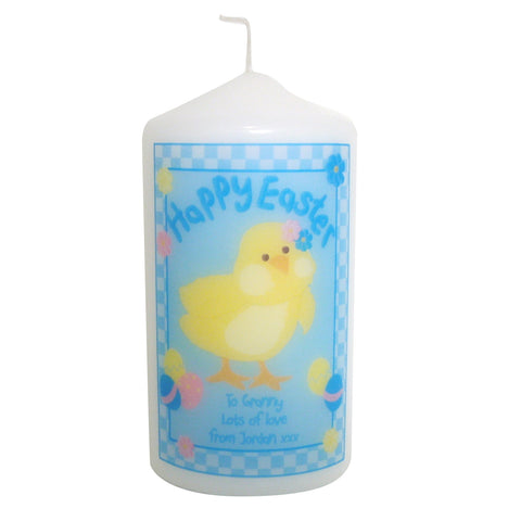 Personalised Happy Easter Chick Candle Gift