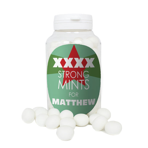 Personalised XXXX Strong Mints Gift