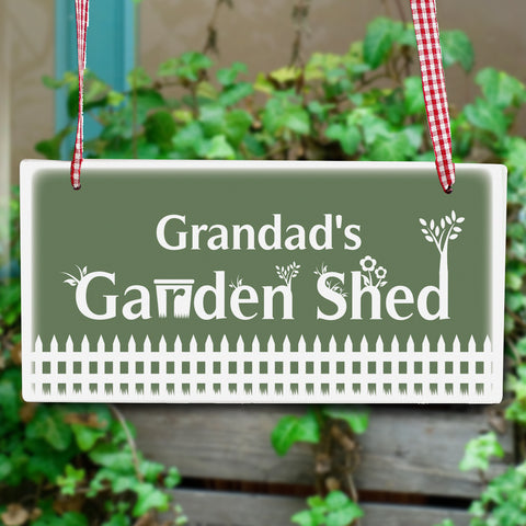 Personalised Garden Shed Wooden Sign