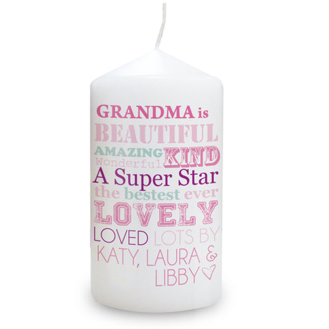 Personalised She Is Candle Gift