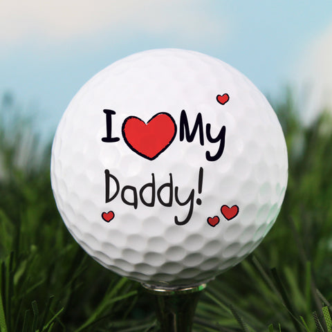 Personalised I Heart My Golf Ball Gift
