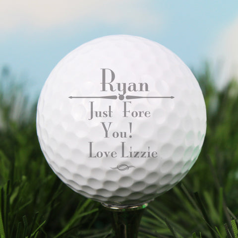 Personalised Message Golf Ball Gift
