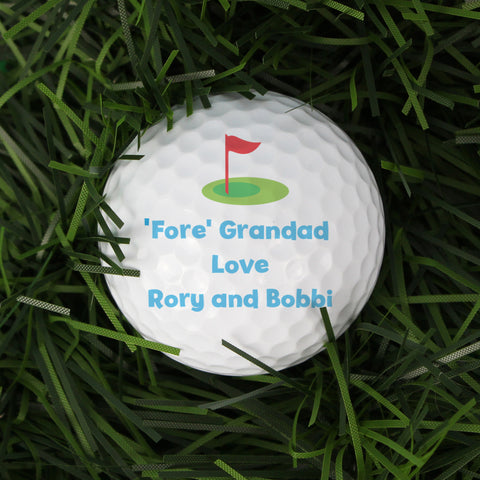 Personalised Flag Golf Ball Gift