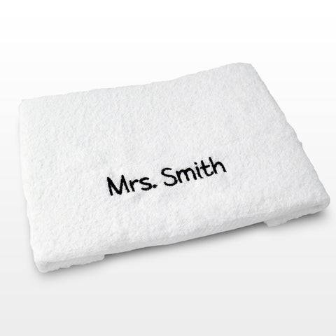 Personalised White Hand Towel Gift