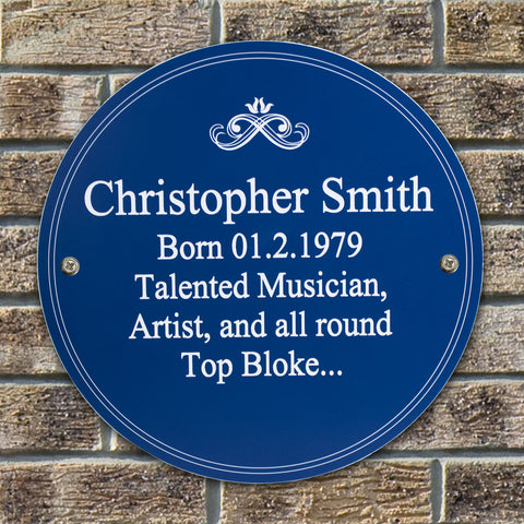 Personalised Heritage Blue Plaque