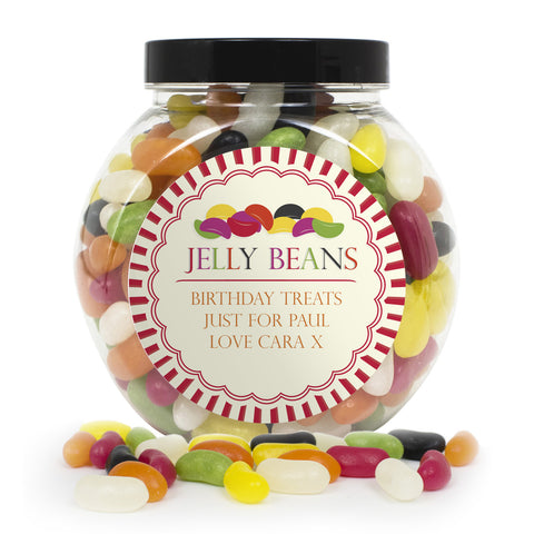 Personalised Jelly Beans Sweet Jar Present