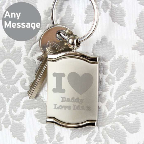 Personalised I Heart Photo Frame Keyring