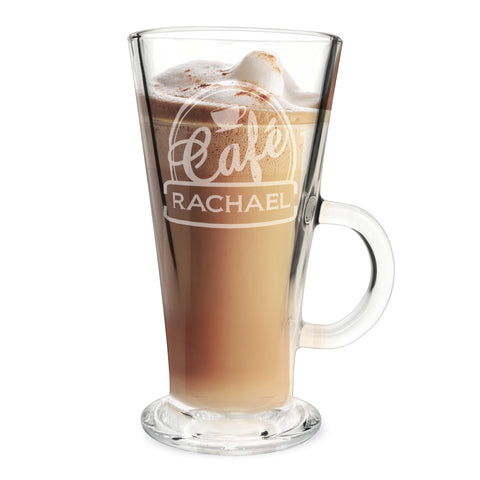 Personalised Bistro Latte Glass Gift