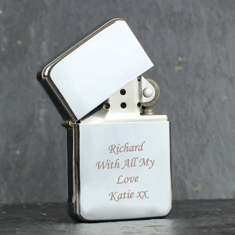 Personalised Silver Lighter Gift