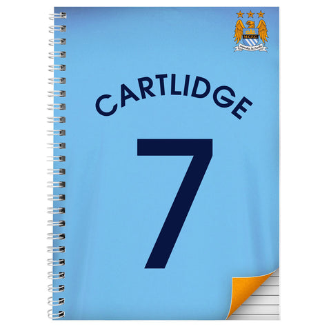 Personalised Manchester City A4 Notebook Gift