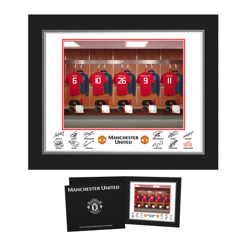 Personalised Manchester United Dressing Room Folder Gift