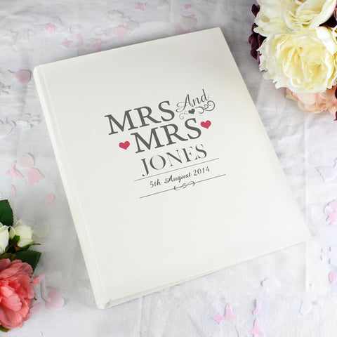 Personalised Mrs and Mrs Traditional Photo Album