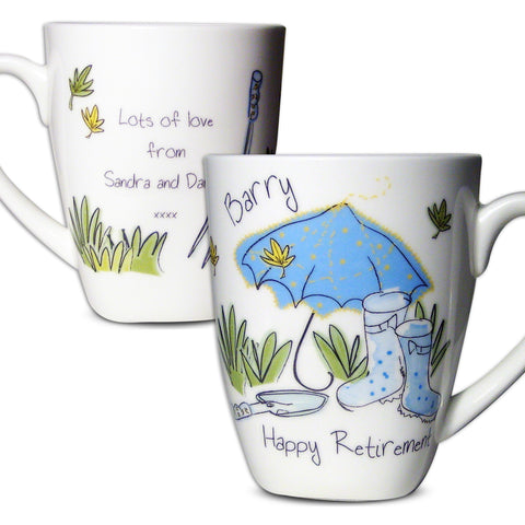 Personalised Blue Umbrella Mug Gift