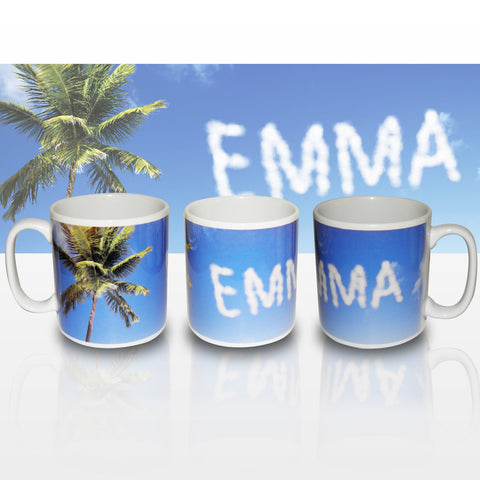 Personalised Palm Tree Mug Gift