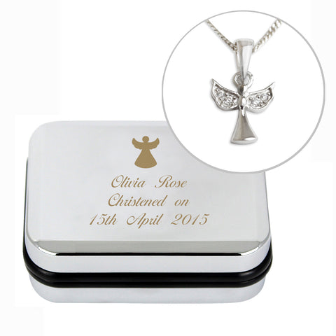 Personalised Angel Necklace and Box Gift