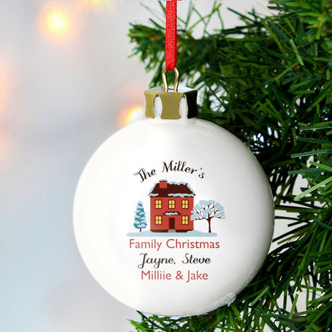 Personalised Home Christmas Bauble