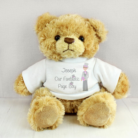 Personalised Fantastic Page Boy Teddy Bear Gift