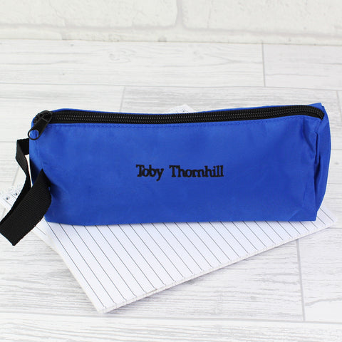 Personalised Blue Pencil Case Gift