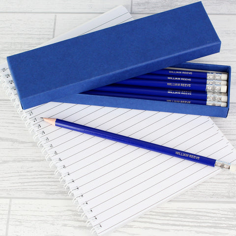 Personalised Box of Blue Pencils Gift