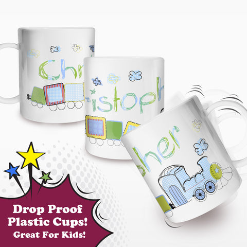 Personalised Train Plastic Cup Gift