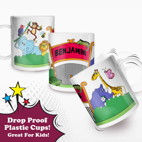 Personalised Zoo Plastic Cup Gift
