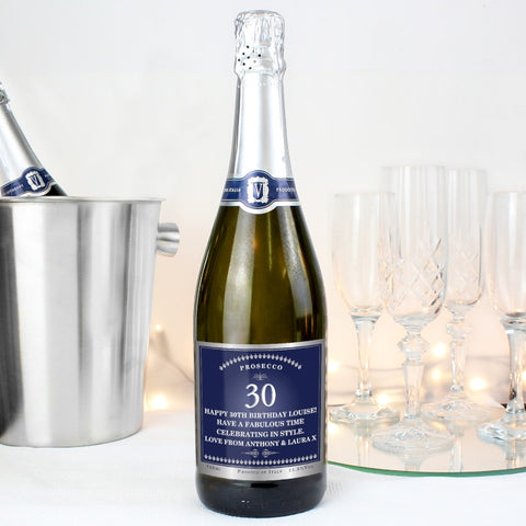 Personalised Prosecco Big Age Design