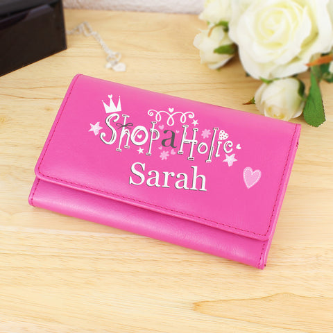 Personalised Pink Shopaholic Purse Gift