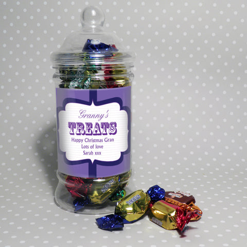 Personalised Classic Label Treat Jar Gift