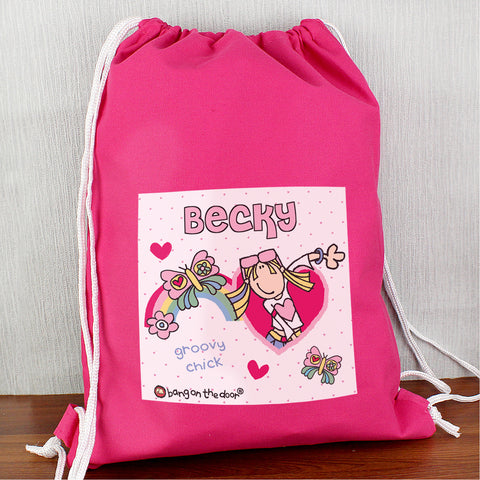 Personalised Bang On The Door Groovy Chick Swim Bag Gift