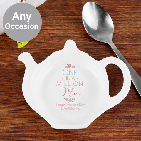 Personalised One in a Million Tea Bag Rest