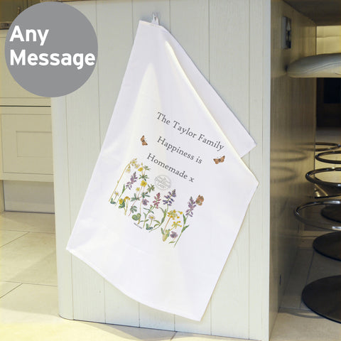 Personalised Country Diary Tea Towel
