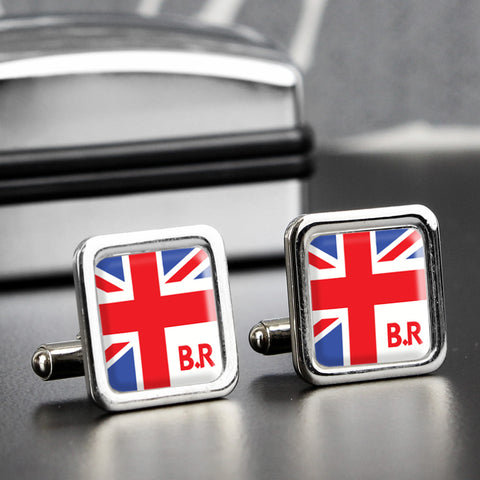 Personalised Union Jack Cufflinks Gift